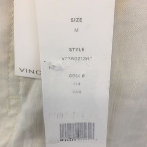 Vince Pants - Vince Stretch Crop Cargo Pants Ivory Linen Chino